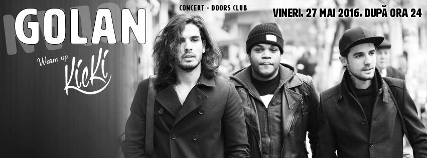 Concert Golan in Doors Club Constanta – 27 mai 2016