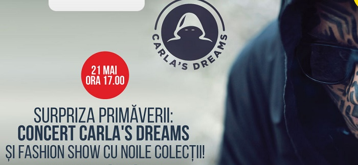 Concert Carla`s Dreams si Fashion Show la Maritimo Shoppin Center, pe 21 mai