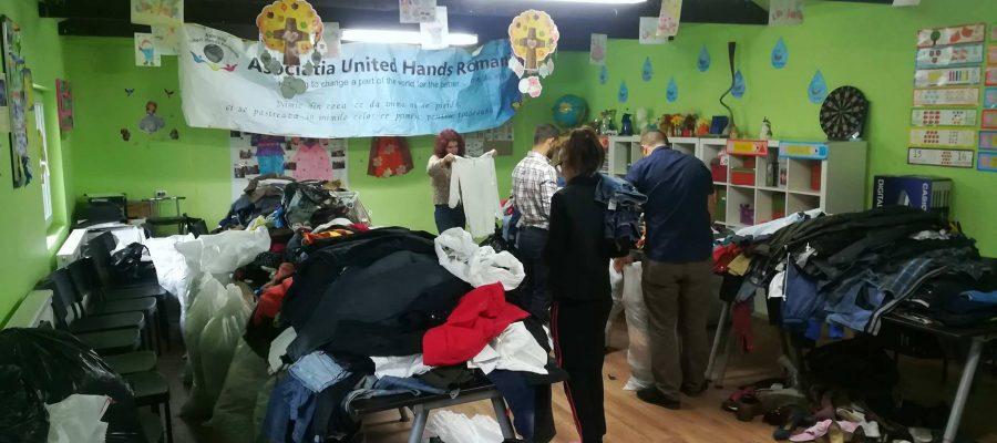O nouă acţiune de ajutorare a comunităţii din Nazarcea, realizată de voluntarii Asociaţiei United Hands România